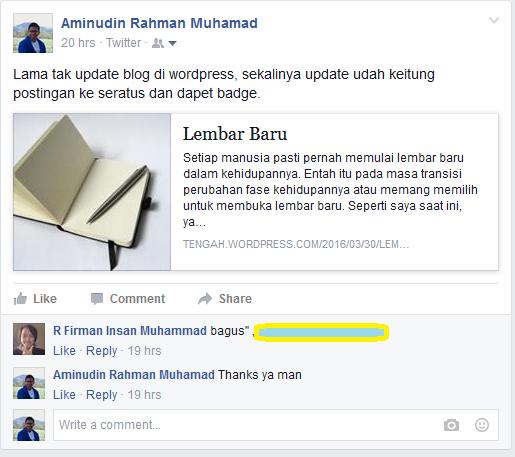 publikasi postingan di fb